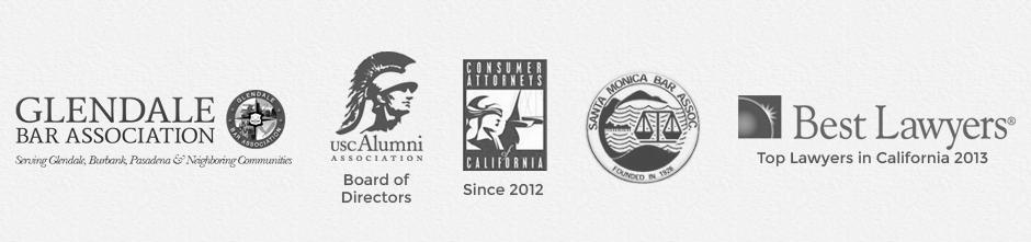 Glendale Bar Association, USC Alumni Association, Consumer Attorneys of California, Santa Monica Bar Association, Best Lawyers